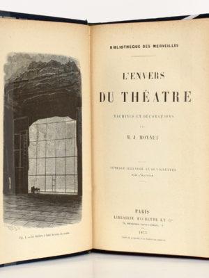L'envers du théâtre Machines et décorations, M. J. Moynet. Hachette 1873. Frontispice et page titre.