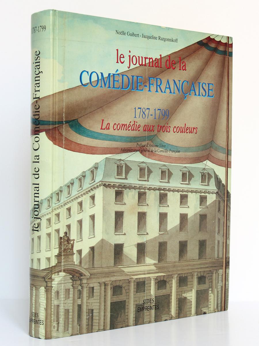 Le Journal de la Comédie-Française 1787-1799, Noëlle Guibert, Jacqueline Razgonnikoff. SIDES, 1989. Couverture.