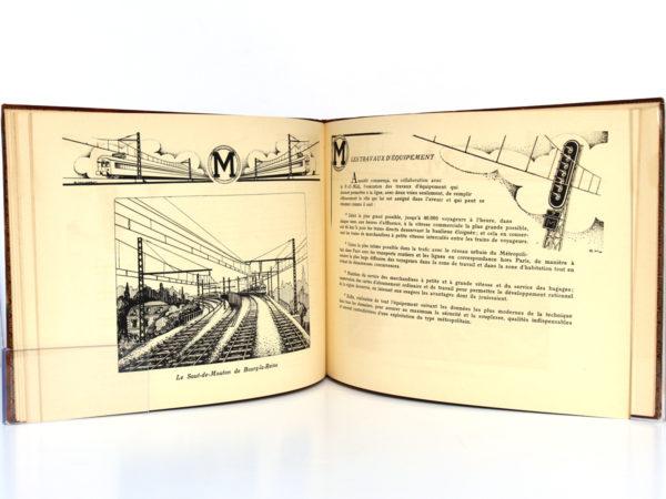 La ligne de Sceaux Chemin de Fer métropolitain de Paris. Éditions Jacques Arnaud v.1932. Pages intérieures 1.