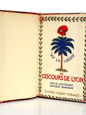 Le Discours de Lyon - Le Souper de Beaucaire - Manuscrit venu de Sainte-Hélène, Napoléon Bonaparte. Éditions Morancé, sans date [V. 1930]. Première page titre.