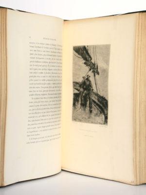 Pêcheurs d'Islande, Pierre Loti. Calmann-Lévy, 1893. Pages intérieures : eau-forte de E. Rudeaux.