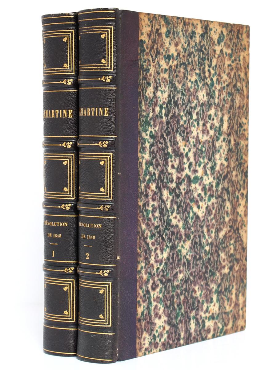 Histoire de la Révolution de 1848, Alphonse de Lamartine. Perrotin, 1849. 2 volumes. Reliures.