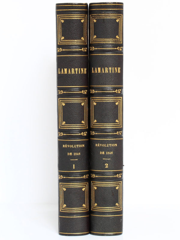 Histoire de la Révolution de 1848, Alphonse de Lamartine. Perrotin, 1849. 2 volumes. Dos.