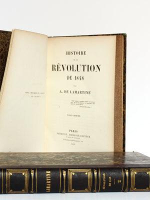 Histoire de la Révolution de 1848, Alphonse de Lamartine. Perrotin, 1849. 2 volumes. Page titre 1.