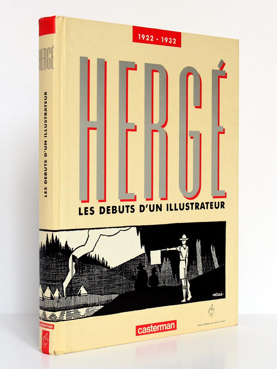 Hergé 1922-1932 Les débuts d'un illustrateur, Benoît Peeters. Casterman 1987. Couverture.