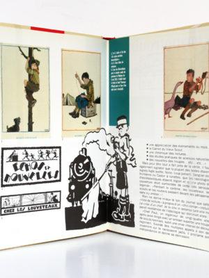 Hergé 1922-1932 Les débuts d'un illustrateur, Benoît Peeters. Casterman 1987. Pages intérieures.