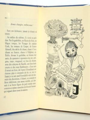 Tartarin de Tarascon, Alphonse Daudet. Club du livre sélectionné. Illustrations Nicole Hosxe. Pages intérieures.