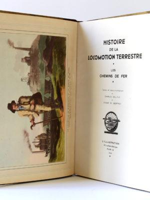 Histoire de la locomotion terrestre, Charles DOLFUS, Edgard de GEOFFROY. L'Illustration 1938. Frontispice et page titre.