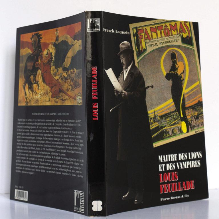 Maître des lions et des vampires : Louis Feuillade, par Francis LACASSIN. Pierre Bordas & Fils, 1995. Couverture : dos et plats.