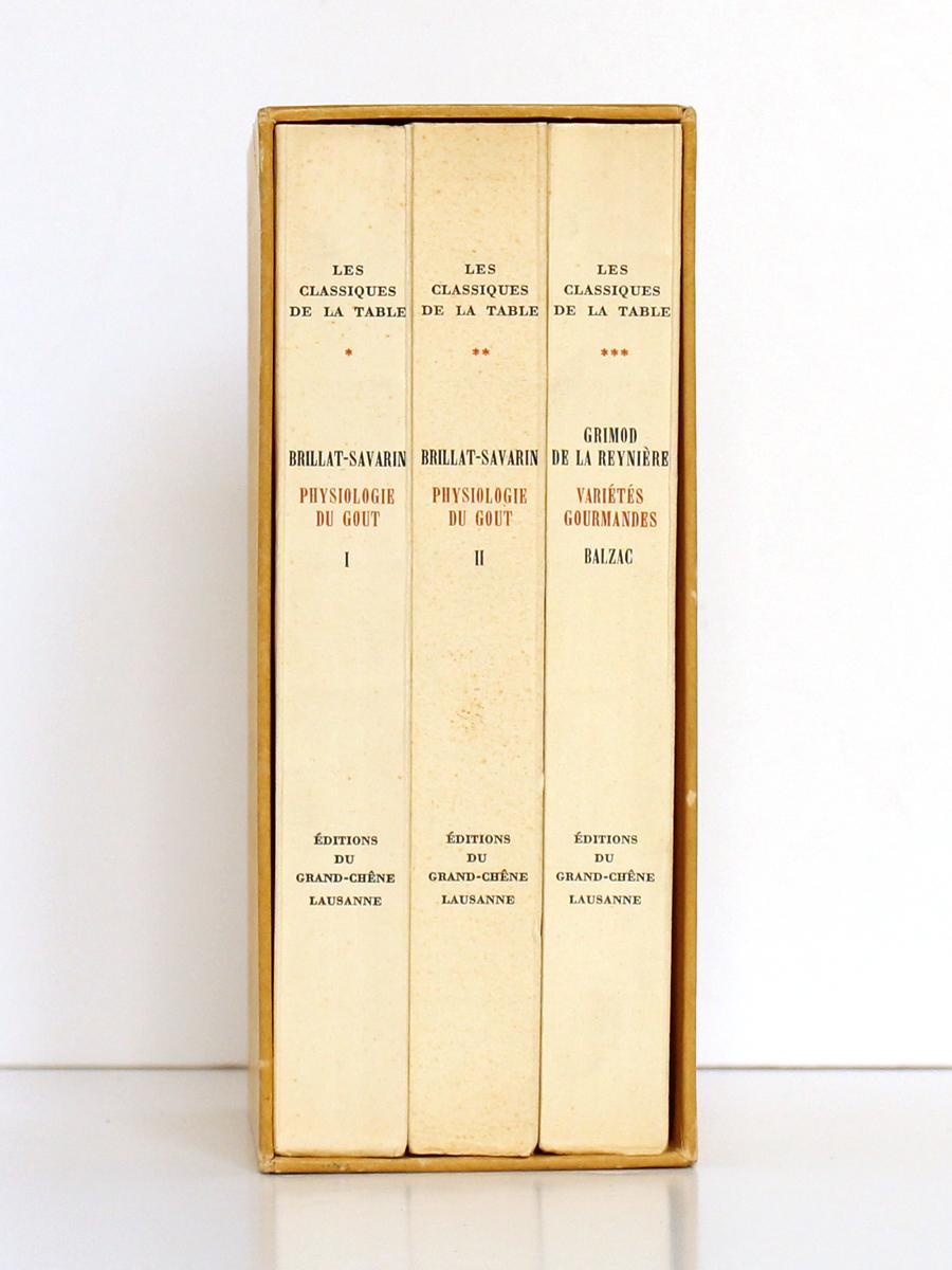 Classiques de la Table, BRILLAT-SAVARIN, GRIMOD DE LA REYNIÈRE. Éditions du Grand-Chêne, 1951. Coffret.