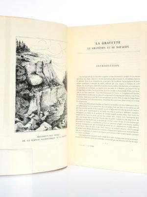 La Gravette Le Gravétien et le Bayacien, Fernand LACORRE. Imprimerie Barnéoud, 1960. Pages intérieures.