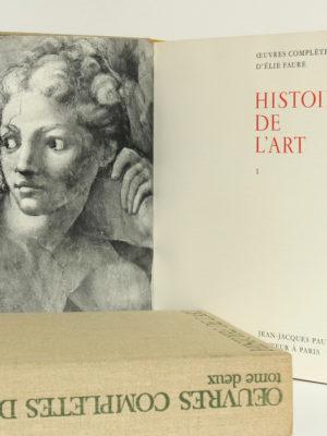 Œuvres complètes d'ÉlieFaure. Jean-Jacques Pauvert Éditeur, 1964. Frontispice et page titre du volume 1.