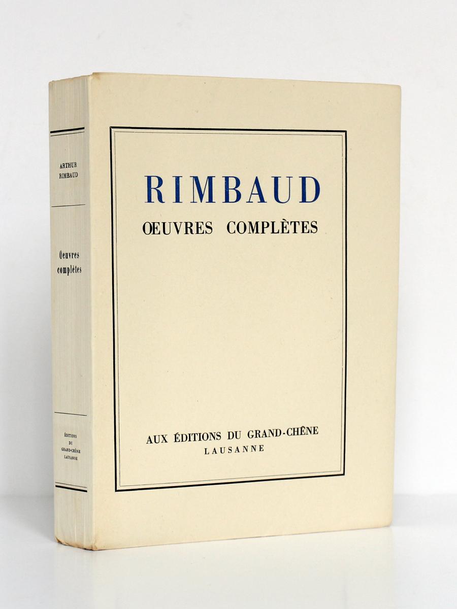 Œuvres complètes de RIMBAUD. Éditions du Grand-Chêne, 1943. Couverture.