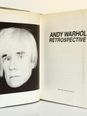 Andy Warhol Rétrospective. Centre Georges Pompidou 1990. Frontispice et page titre.