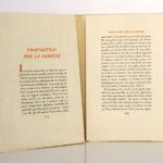Connaissance de l'Est, Paul CLAUDEL. Typographie de Léon Pichon, 1928. Pages intérieures 4.