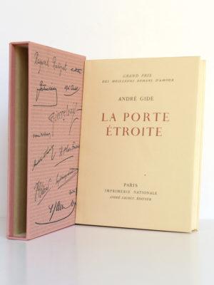 La Porte étroite, André GIDE. André Sauret Éditeur, 1958. Livre et étui.