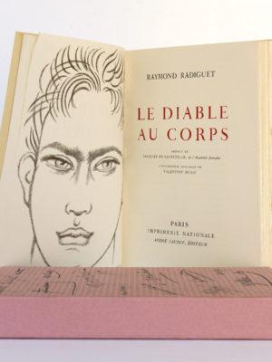 Le Diable au corps, Raymond RADIGUET. André Sauret Éditeur, 1958. Frontispice et page titre.