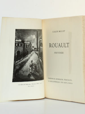 Rouault Souvenirs, Claude ROULET. Éditions H. Messeiller - La Bibliothèque des Arts, 1961. Frontispice et page titre.