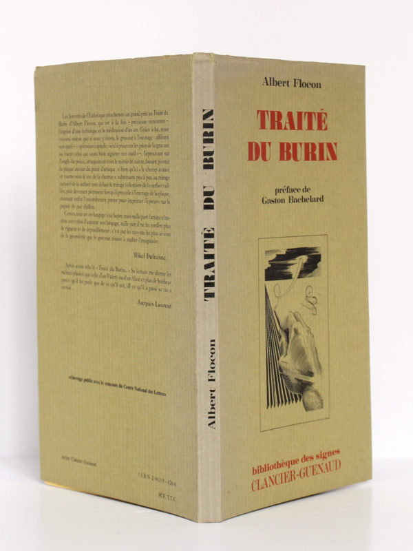 Traité du burin, Albert FLOCON. Illustré par l'auteur. Clancier-Guenaud, 1982. Couverture : jaquette.