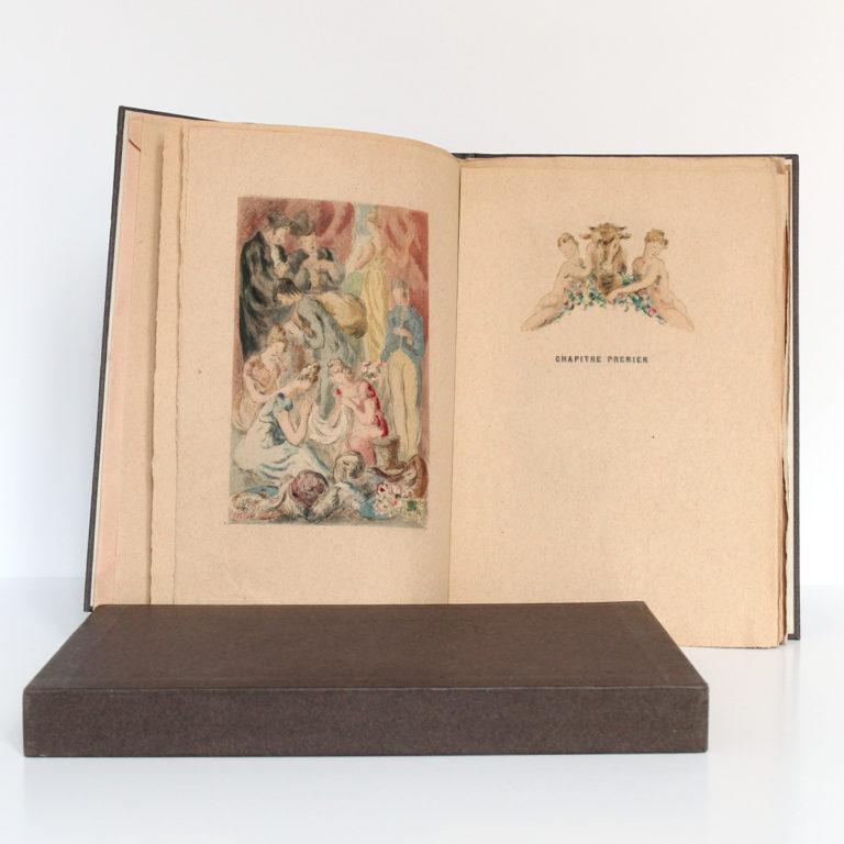 La Fille aux yeux d'or, Honoré de BALZAC. Pointes sèches de Jean SERRIÈRE. Éditions Rombaldi, 1942. Pages intérieures 1.
