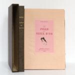 La Fille aux yeux d'or, Honoré de BALZAC. Pointes sèches de Jean SERRIÈRE. Éditions Rombaldi, 1942. Couverture, chemise et étui.
