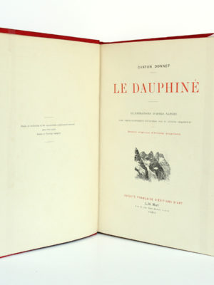 Le Dauphiné, Gaston DONNET. Éditions d'art L.-H. May, sans date [1900]. Page titre.