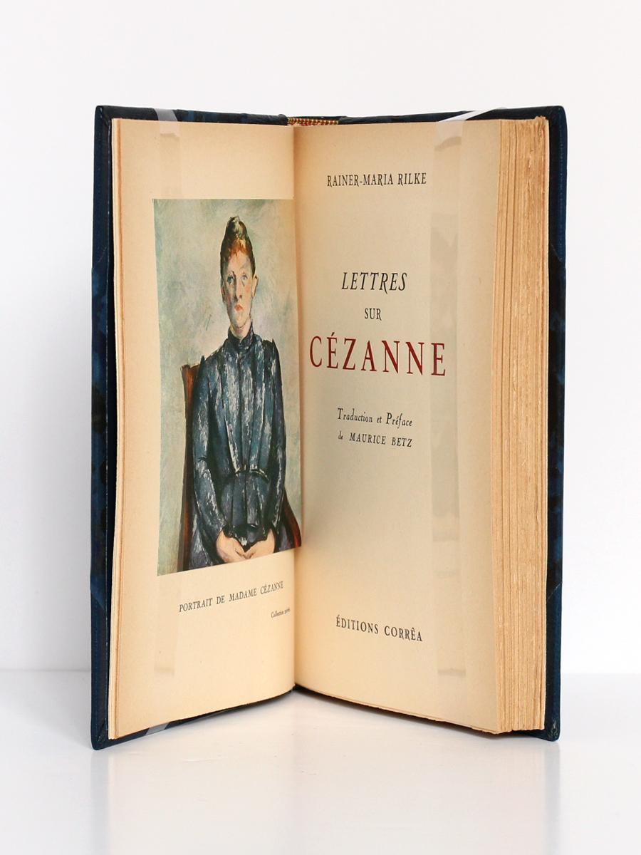 Lettres sur Cézanne, Rainer-Maria RILKE. Éditions Corrêa, 1944. Frontispice et page titre.