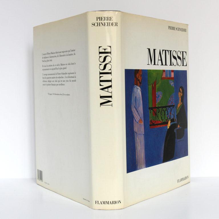Matisse, Pierre SCHNEIDER. Flammarion, 1984. Jaquette : dos et plats.