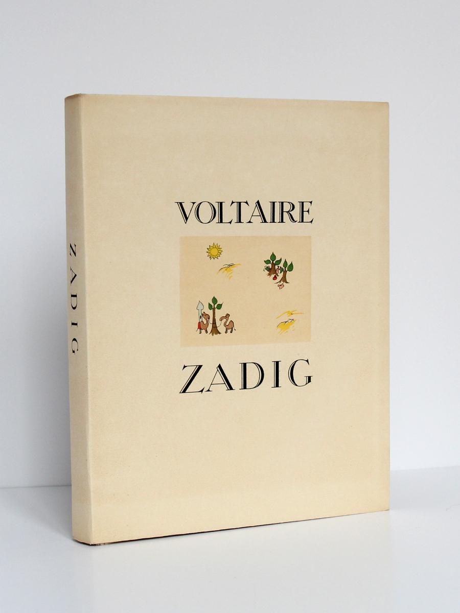Zadig, VOLTAIRE. Illustrations de Roger MAUGE. Chez Jean Landru, 1947. Couverture.