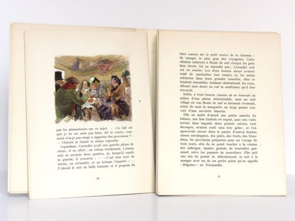 Contes choisis, MAUPASSANT, illustrations Raoul SERRES. Éditions Jacques Petit, 1946. Pages intérieures 2.