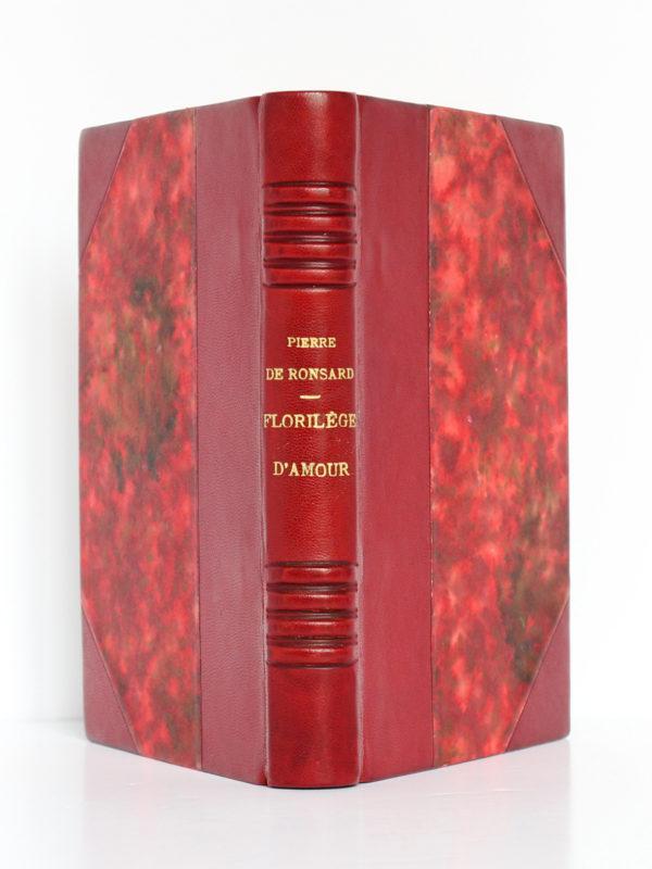 Florilège d'amour, Pierre de RONSARD, illustrations de MARTY. Flammarion, 1953. Reliure : dos et plats.