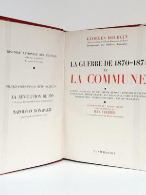 La Guerre de 1870-1871 et la Commune, Georges BOURGIN. Flammarion, 1947. Page titre.