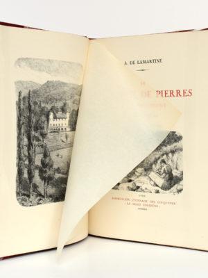 """Le Tailleur de pierres de Saint-Point, Alphonse de LAMARTINE, lithographies de Edmond TAPISSIER. """"La Belle Cordière"""", 1931. Frontispice."""