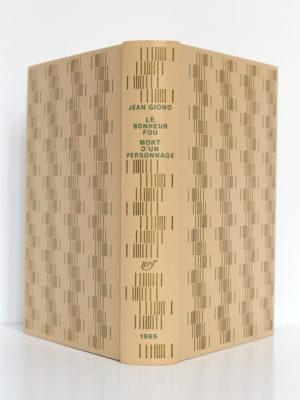 Le Bonheur fou - Mort d'un personnage, Jean GIONO. Illustrations de Yves BRAYER. nrf-Gallimard, 1965. Reliure : dos et plats.