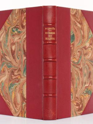 Les Chansons de Bilitis, Pierre LOUYS. Illustrations de Paul-Émile BÉCAT. L'Édition d'art H. Piazza, 1943. Reliure : dos et plats.