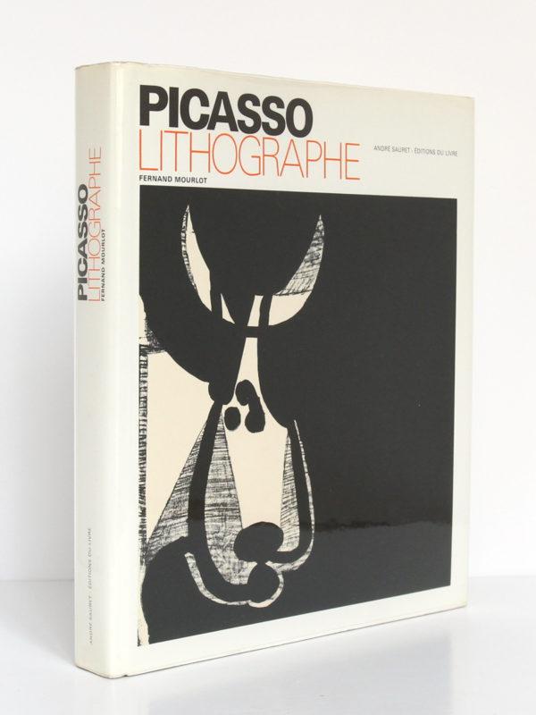Picasso lithographe, Fernand MOURLOT. André Sauret - Éditions du livre, 1970. Couverture : dos et plat 1.