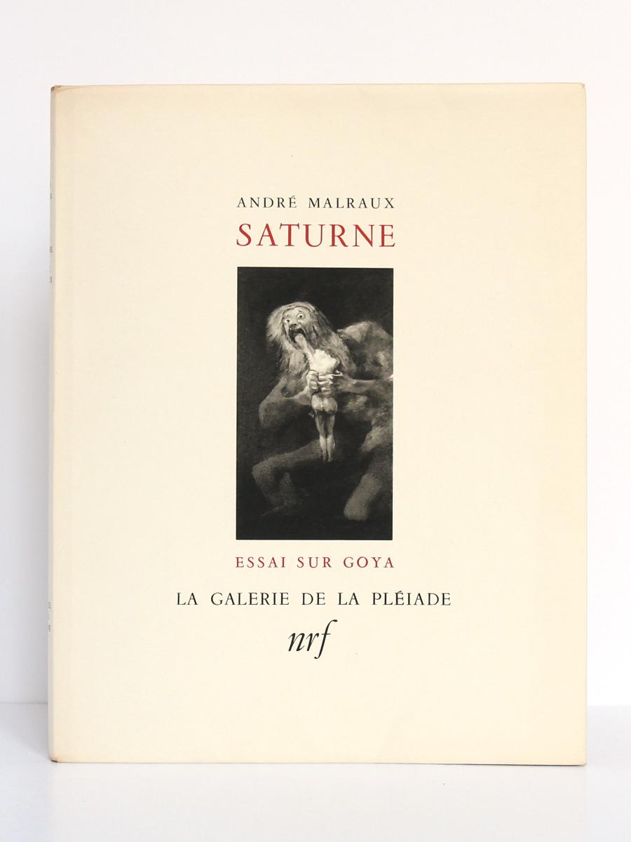 Saturne, Essai sur Goya, par André MALRAUYX. nrf-Gallimard, 1950. Couverture.