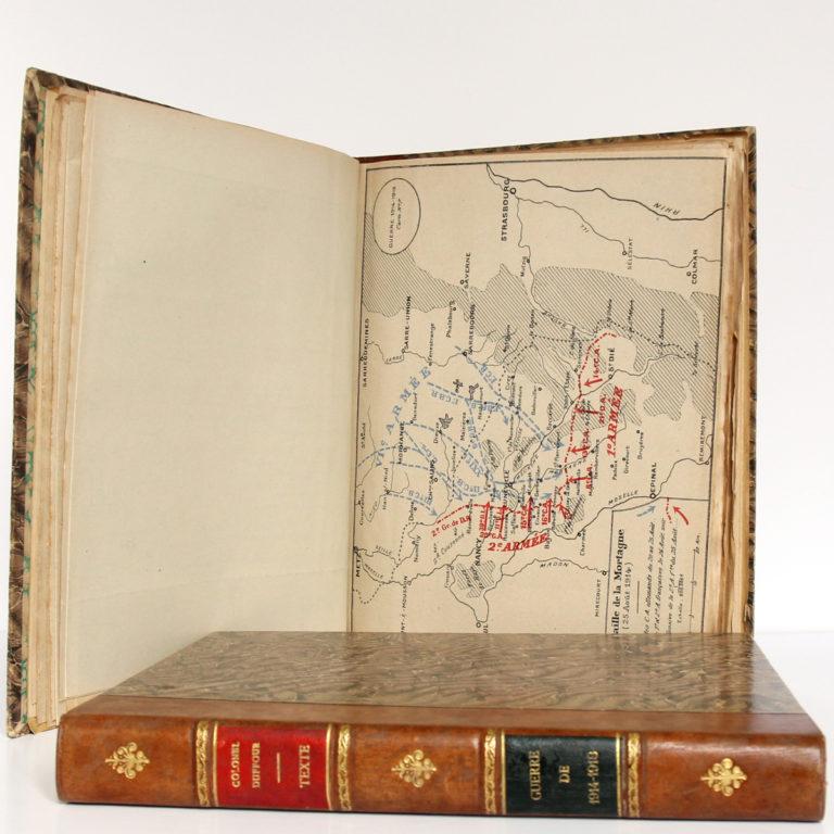 La Guerre de 1914-1918. Cours d'histoire. Colonel DUFFOUR. École supérieure de guerre, 1923. 2 volumes. Pages intérieures de l'atlas 1.