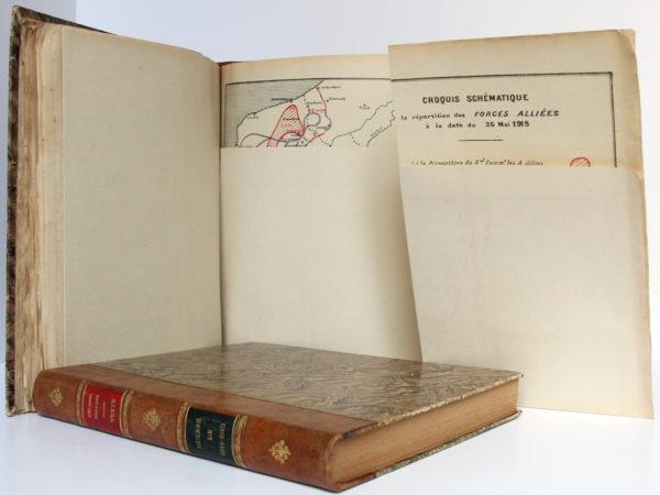 La Guerre de 1914-1918. Cours d'histoire. Colonel DUFFOUR. École supérieure de guerre, 1923. 2 volumes. Pages intérieures de l'atlas 3.