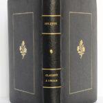 Claudine à l'école, Colette. Illustrations de Chas Laborde. Henri Jonquières et Cie, 1925. Reliure : dos et plats.