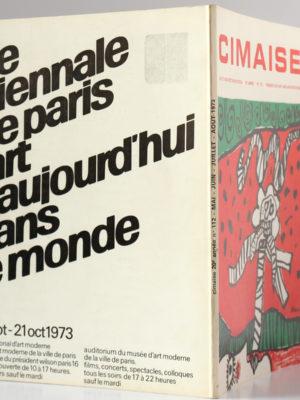 Cimaise, numéro 112. Mai-août 1973. Couverture : dos et plats.