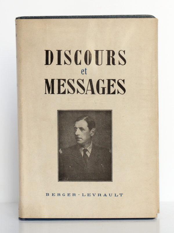 Discours et messages 1940-1946, Charles DE GAULLE. Éditions Berger-Levrault, 1946. Couverture.