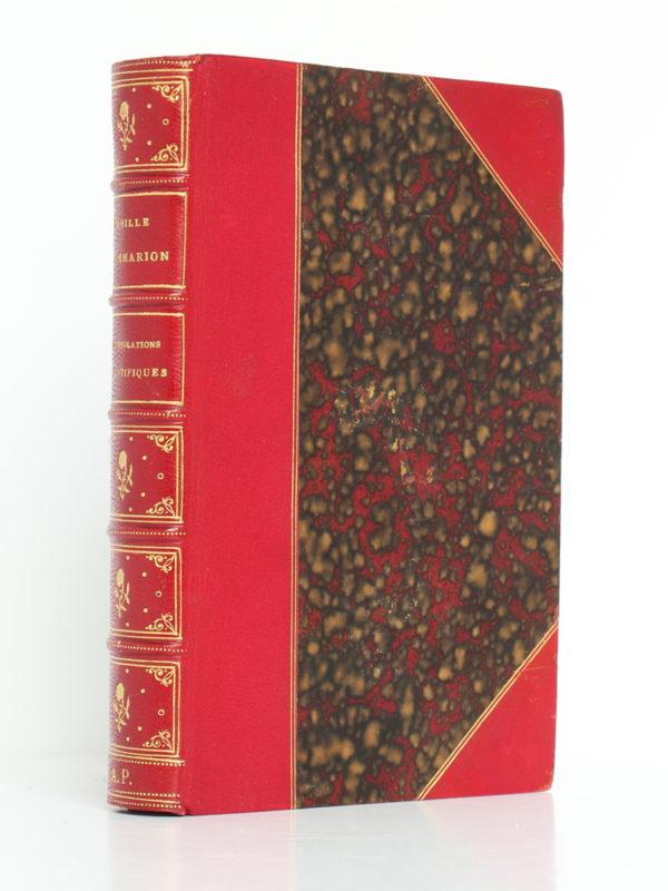 Contemplations scientifiques (Première série), Camille Flammarion. Librairie Hachette & Cie, 1876. Reliure.