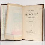 La Terre avant le déluge, Louis FIGUIER. Hachette, 1864. Page titre et frontispice sous sa serpente.