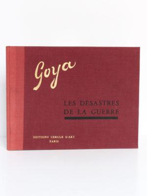 Les désastres de la guerre, Goya. Éditions Cercle d'Art, 1955. Couverture.