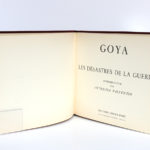 Les désastres de la guerre, Goya. Éditions Cercle d'Art, 1955. Page titre.