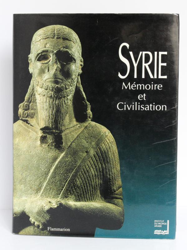 Syrie Mémoire et Civilisation. Catalogue exposition, 1993. Couverture.