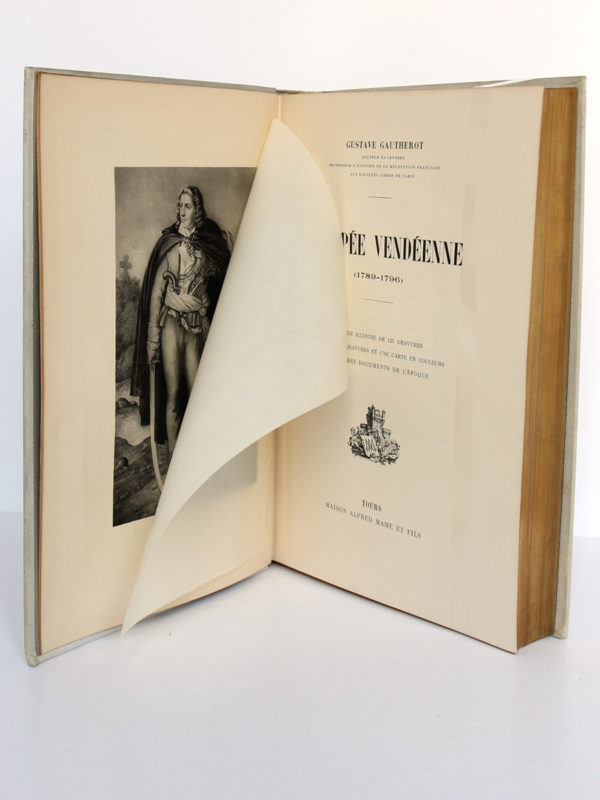 L'épopée vendéenne, G. GAUTHEROT. Maison Alfred Mame & Fils. Frontispice et page titre.
