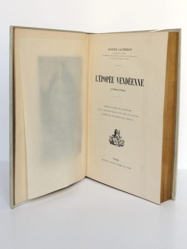L'épopée vendéenne, G. GAUTHEROT. Maison Alfred Mame & Fils. Page titre.