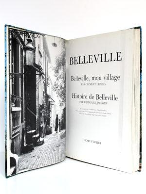 Belleville, Clément LÉPIDIS, Emmanuel JACOMIN. Éditions Denoël, 1988. Frontispice et page-titre.